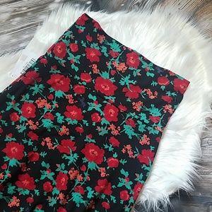 NWT floral maxi skirt